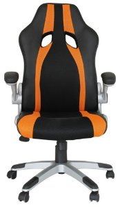 Cadeira Office Speed Preto e Laranja