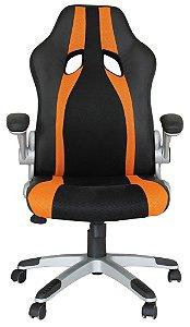 Cadeira Office Speed Preto e Laranja