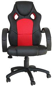 Cadeira Office Racer Preto e Vermelha