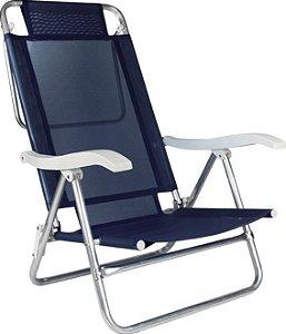 Cadeira Sol de Verão Reclinável Azul