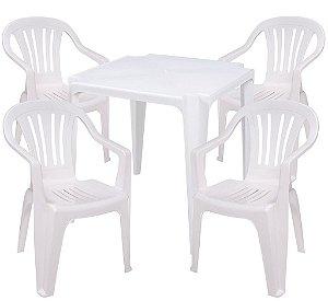 Conjunto com 4 Cadeiras e 1 Mesa Bela Vista