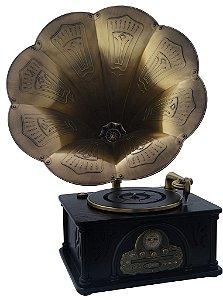 Gramofone com Caixa de Madeira - 16307
