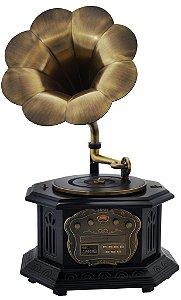 Gramofone com Caixa de Madeira - 16301