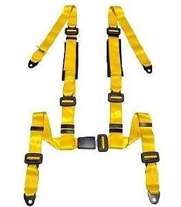 Cinto de Segurança Estático 4 Pontos Amarelo