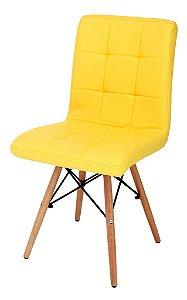 Cadeira Eiffel Charles Eames PU Amarelo