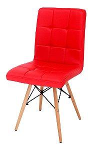 Cadeira Eiffel Gomos Charles Eames PU Vermelho