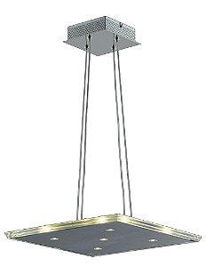 Pendente em Aço e Vidro (KL015) 36cm