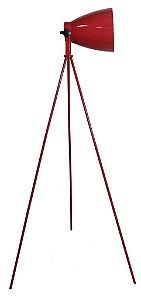 Luminária de Chão em Aço Vermelho (LU008A)