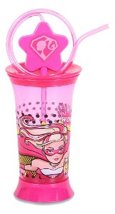 Copo Divertido com Canudo 350ml Barbie Super Princesa (1752)