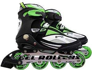 Patins Roller In Line Extreme Verde Tam.37