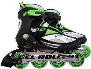 Patins Roller In Line Extreme Verde Tam.39