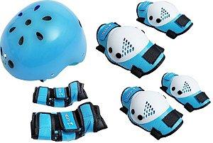 Kit Proteção Infantill Azul Snoopy M