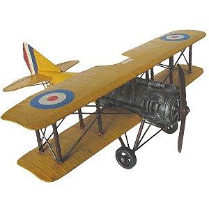 Avião Decorativo Amarelo France 60cm (4054)