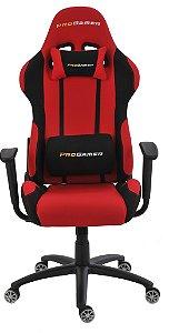 Cadeira Office Pro Gamer Preto e Vermelho
