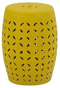 Banqueta Seat Garden em Ceramica Ageo Amarelo
