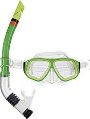 Máscara de Mergulho e Snorkel Juvenil Verde