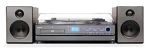 Sistema de Som Hi-Fi Raveo Aria com Toca Discos, CD, Rádio, FM, USB e SD
