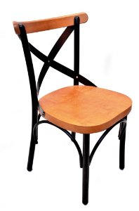 Cadeira Uruguai Ferro Preto Encosto Mel