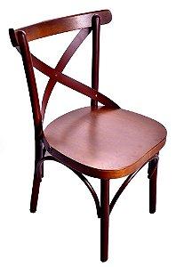 Cadeira Uruguai Alumínio Aço Cortem Encosto Castanho