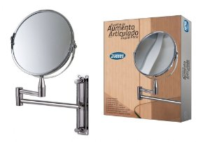 Espelho de Aumento Articulado Dupla Face