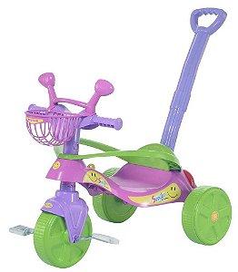 Triciclo Infantil Smile Confort Rosa e Lilás (438)