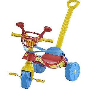 Triciclo Infantil Smile Confort Vermelho e Amarelo (448)