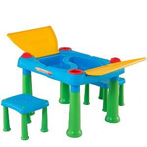 Mesa Infantil com 2 Cadeiras Azul Biemme