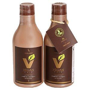 Kit Escova Progressiva de Biotina VEGAN HAIR 100% Vegana - 0%Formol - Kit 300ml
