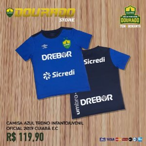 Camisa Azul Treino Infantojuvenil Oficial 2019