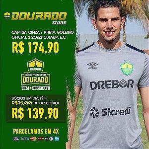 Camisa Cinza/Preta Goleiro Oficial 3 20/21