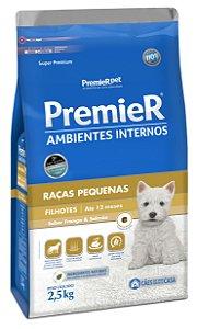 PremieR Ambientes Internos Cães Filhotes Sabor Frango & Salmão 2,5kg