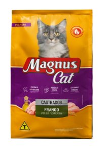 Magnus Cat Premium Gatos Castrados Sabor Frango 25kg