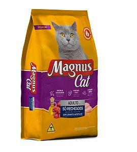 Magnus Cat Premium Gatos Adultos Só Recheados Sem Corantes 15kg