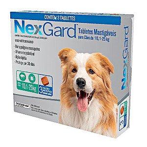 Nexgard Cães de 10,1 a 25kg - 3 Comprimidos