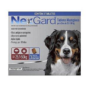 Nexgard Cães de 25,1 a 50kg - 3 comprimidos