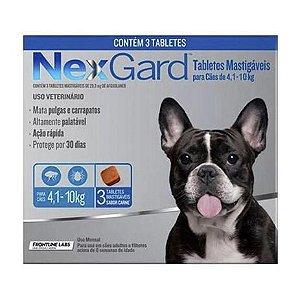 Nexgard Cães de 4,1 a 10kg - 3 Comprimidos