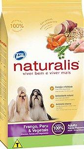 Naturalis Cães Adultos Frango, Peru & Vegetais Raças Pequenas 2kg
