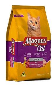 Magnus Cat Mix Sabor Carne com Partículas Recheadas 10kg