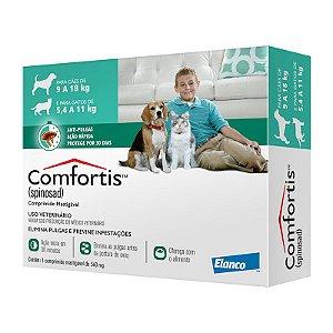 Comfortis Antipulgas Elanco - Cães 9 a 18kg e Gatos 5,4 a 11kg