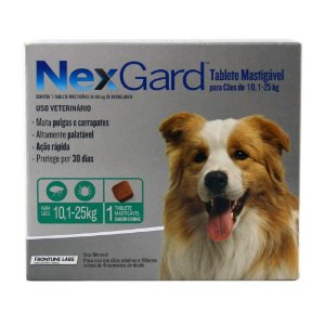 Nexgard Cães de 10,1 a 25kg