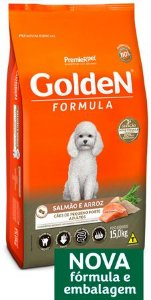 Golden Adulto Pequeno Porte Salmão e Arroz 15kg