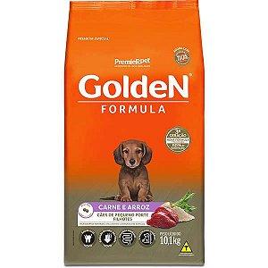Golden Filhotes Pequeno Porte Carne e Arroz 3kg