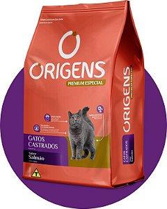 Origens Gatos Castrados Salmão 10kg