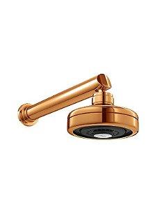 Chuveiro Deca Acqua Plus Red Gold Com Tubo Parede 1990.GL.CT.RD