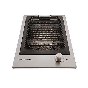 Cooktop Elettromec Dominó Quadratto Barbecue Elétrico Inox 30cm 220V - DE-BQ-30-XQ-2ZEA