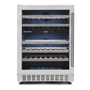 Adega de Vinhos Elettromec 45 Garrafas Compressor Dual Zone de Embutir - CV-2BI-45-XV