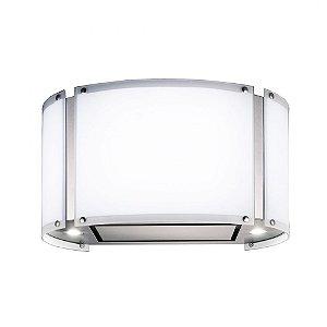 Coifa Elettromec Arcobaleno Ilha Inox e Vidro Branco 70cm 220V CFI-ACB-70-XV-2ATA