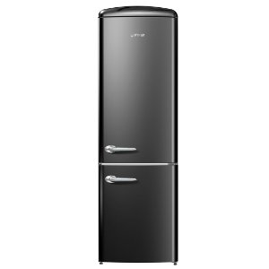 Refrigerador Gorenje Retrô Collection Ion Generation 2 Portas Inverse Preto 220V ONRK192BK