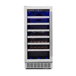 Adega de Vinhos Elettromec 34 Garrafas de Embutir Inox 220V - CV-1BI-34-XV-2SXA