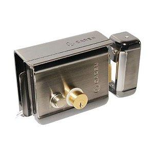 Fechadura Elétrica 12v Alumínio Com Botão Ga049 Garen